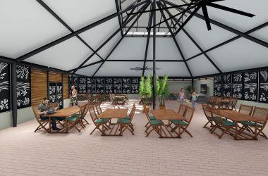 New outdoor dining area on Green Island underway