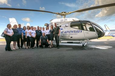 Flying high a Great Adventure! Welcoming our new branded Nautilus Aviation helicopter