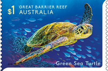 Australia Post launches Reef stamp collection at Agincourt Reef - Australia's most remote letterbox!