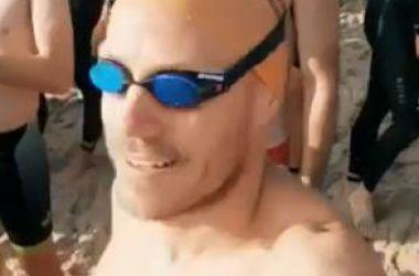 Courtney takes on Green Island Swim