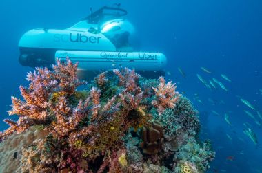 scUber - the world's first ride share submarine at Agincourt Reef!